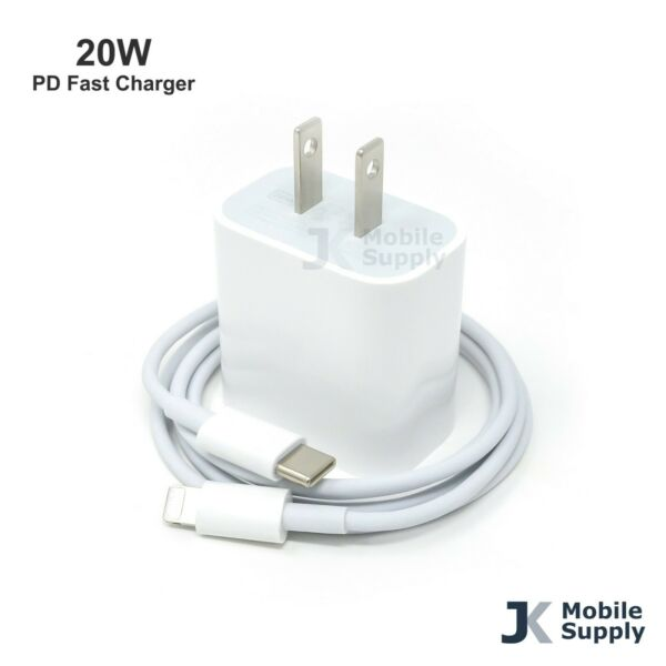 For iPhone 12 11 Pro Premium 20W Fast Charger USB C Type C Power Adapter Cable