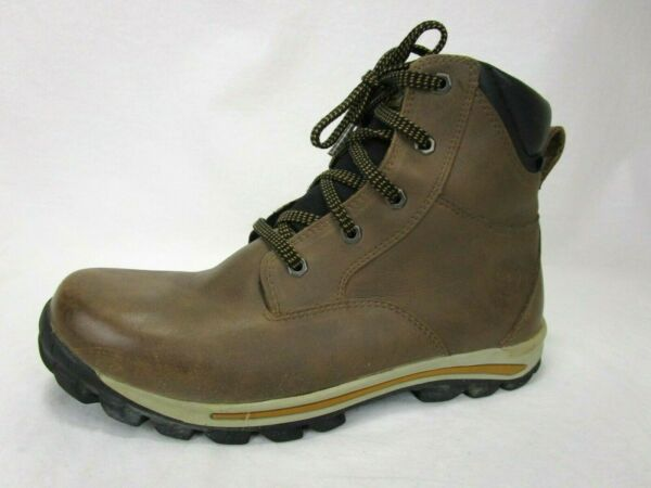 Timberland Boys Ankle Waterproof Boots Sz 6.5 M Primaloft Brown Lace 6 Inch 200g $24.99
