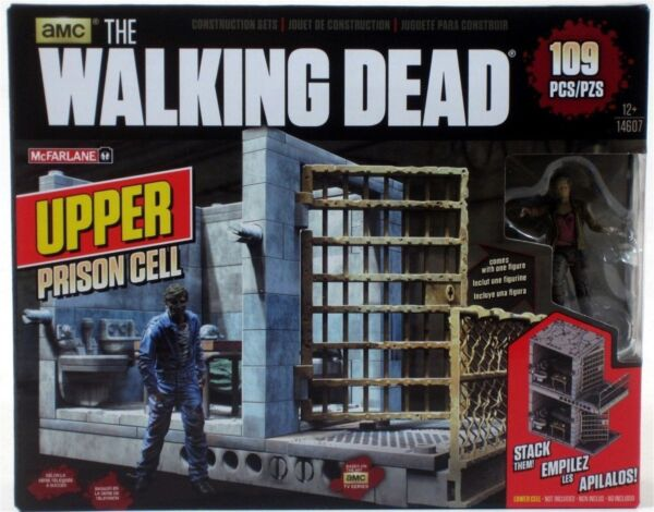 McFarlane WALKING DEAD Upper Prison Cell with CAROL Building Set 109 pcs NEW
