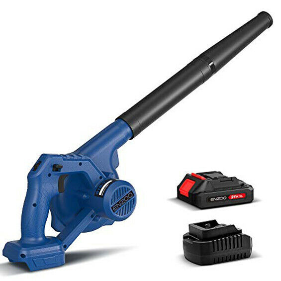 ENZOO Cordless Leaf Blower Dust Vacuum 2 in 1 Designed for Light Yard Work