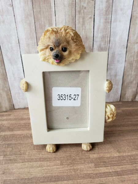 Pomeranian Dog Small Resin Picture Frame $6.50