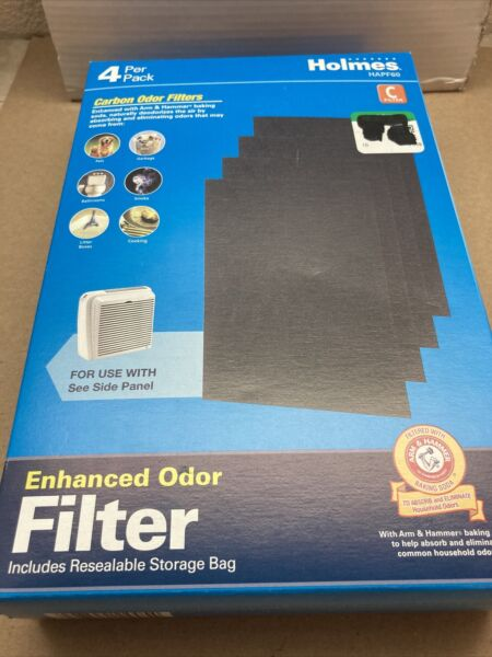 Holmes Carbon Odor Filter C HAPF60 4 pack New Open box $4.30