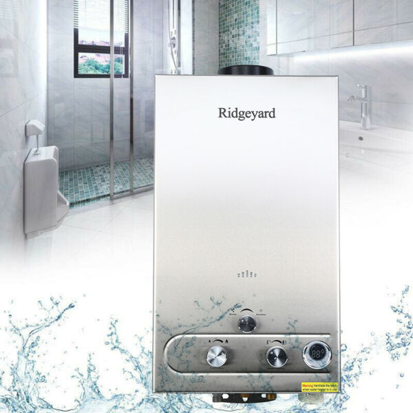 12L 3.2GPM Electric Tankless Gas Hot Water Heater Bathroom Boiler House Shower $119.21