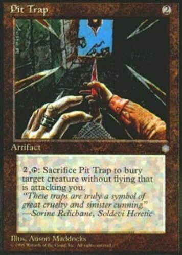 X4 Pit Trap Ice Age Light Play MTG Magic DNA GAMES