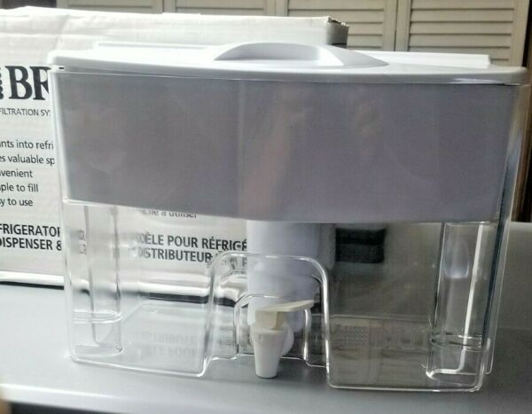 Brita Filter Dispenser Refrigerator Model Water Filtration System. White