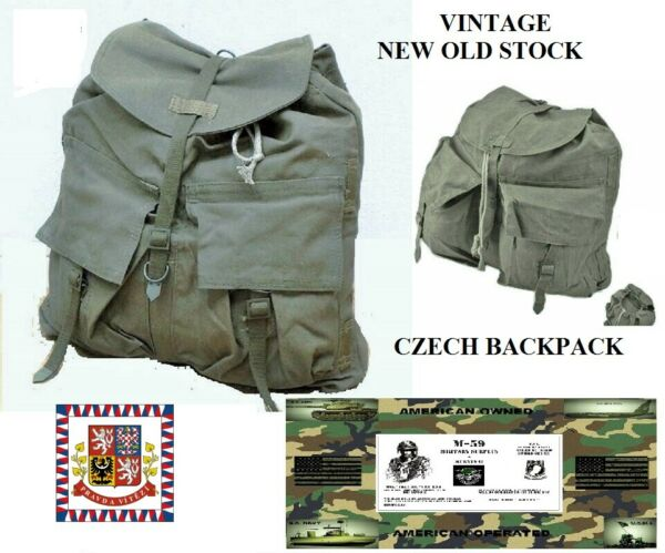 Vintage Czech Army Backpack New Old Stock