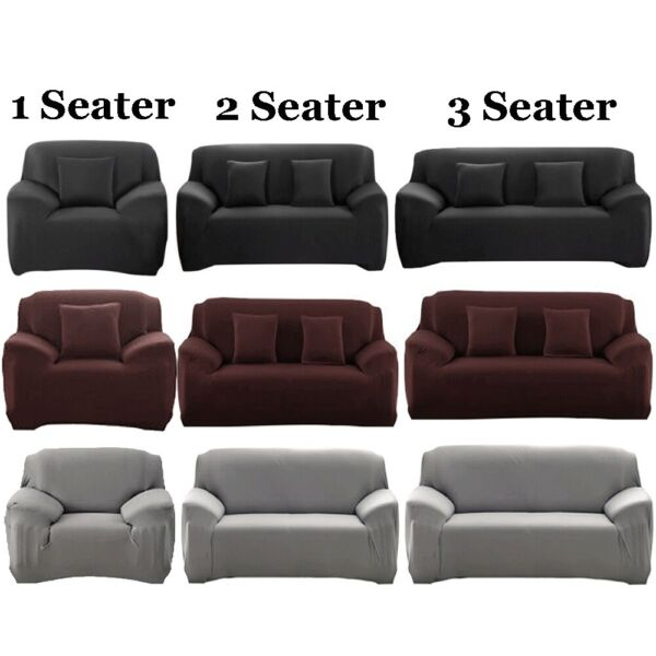 Universal 1 2 3 Seater Stretch Seat Chair Sofa Cover Protector Couch Slipcover $18.95