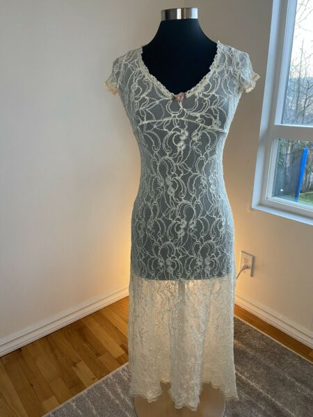 Vintage Betsey Johnson Lace Dress Women's Size 6 Overlay Only
