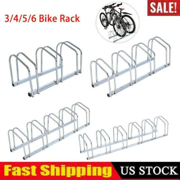 3 4 5 6 Bike Floor Bicycle Rack Stand Parking Mounted Garage Home Holder Steel $33.59