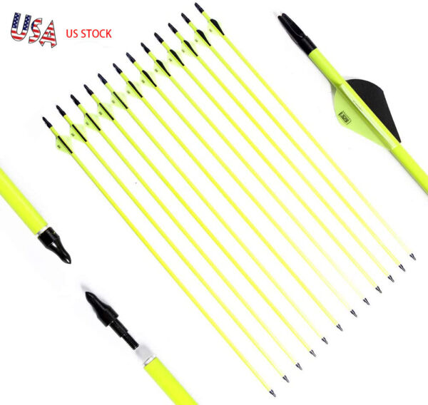 12Pack 30 INCH Archery Hunting Carbon Arrows for Compound amp; Recurve Bow SP 500 $29.88