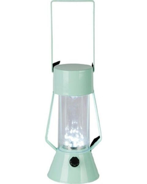 Room Essentials LED Outdoor Metal Lantern in Green Edge