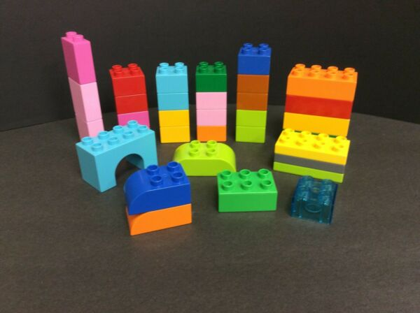 Lego Duplo lot of 30 bricks in Various colors and sizes Mixed lot