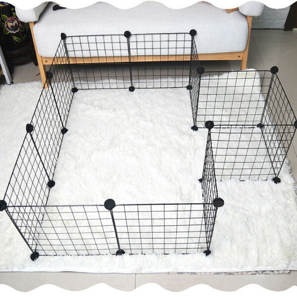 12 Panels Tall Dog Rabbit Playpen Large Crate Fence Pet Play Pen Exercise Cage