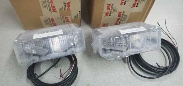 WHELEN MIRCO EDGE LED MCFLED2A ONE PAIR TWO 2 LIGHTS NEW IN BOX AMBER