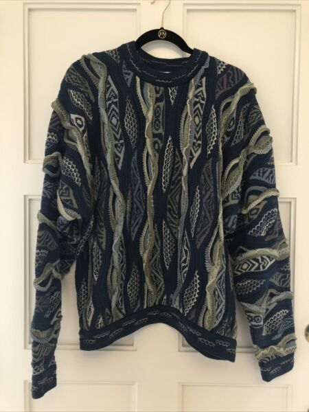 Mens Size Medium COOGI Sweater Coogi Australia Blue and some Gray Sweater $129.99