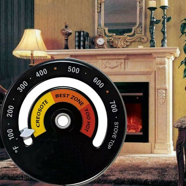 Magnetic Wood Stove Thermometer Heat Powered Temperature Gauge For Log Burning $9.81