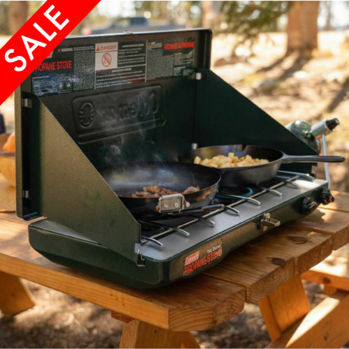 Camping Stove Propane Gas 2 Burner Portable Outdoor Kitchen Camp Cooking Coleman $53.96
