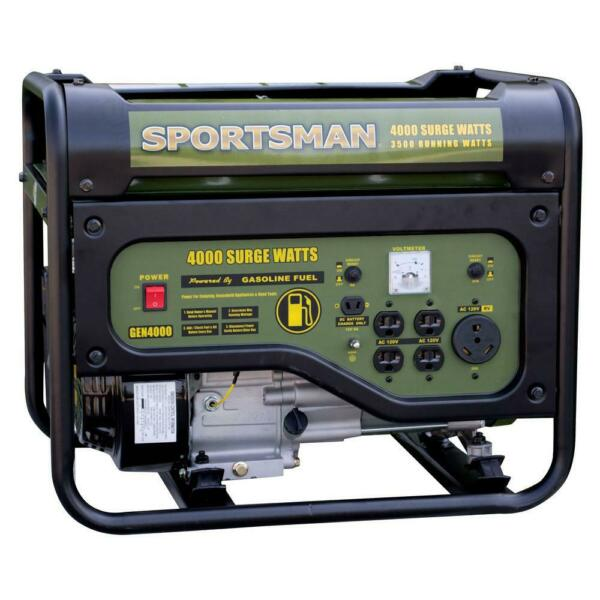 Sportsman Portable Generator 4000 3500W Gas RV Outlet Short Circuit Protection