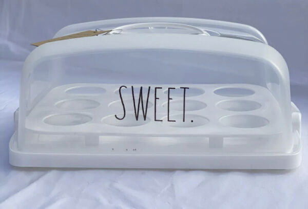 "Rae Dunn ""SWEET"" Rectangular Cupcake Carrier"