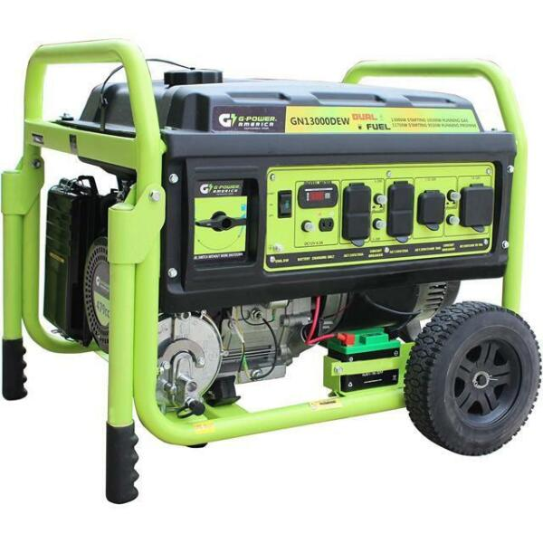 Green Power America 13000 Watt Propane Gas Dual Fuel Generator Electric Start