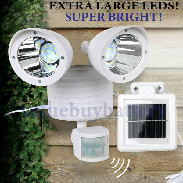 Solar LED Street Light Motion Sensor Remote Control Wall Flood Yard Outdoor Lamp