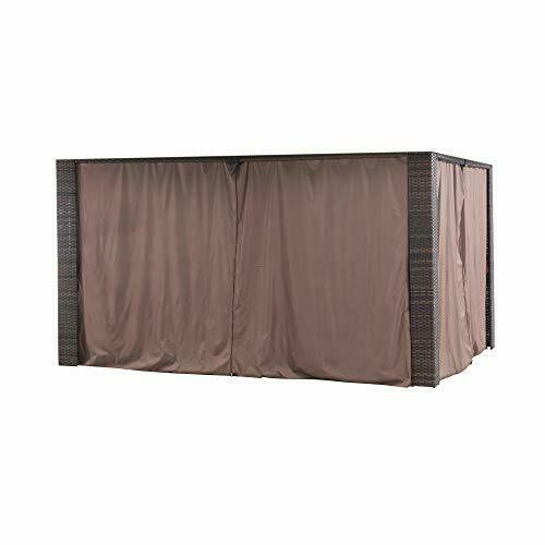 Sunjoy A111303300 Original Replacement Curtain for Riviera Gazebo 10X12 Ft L ...