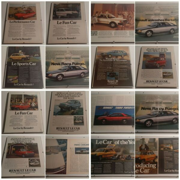 Renault Advertisements Le Car Fuego 18i **CHOICE OF 32** 1977 to 1983 Very Fine $3.99