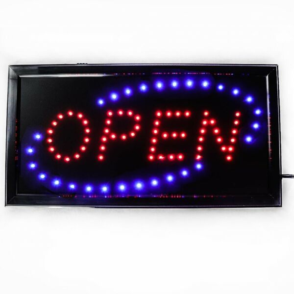 Open LED Sign for Business 19X10inch With Two Flashing Mode $14.49