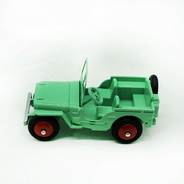 1 43 DINKY TOYS 25J JEEP Car Model DeAgostini Die Cast Green Hot Collection