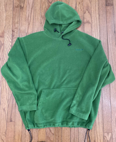 Vintage Timberland Weathergear Fleece 1 4 Zip Hood Drawstring Size Large Jacket $13.00