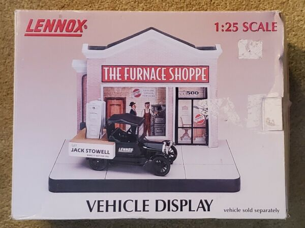 Lennox Furnace Shop Storefront Vehicle Display 1:25 Scale Hand painted Limited $29.99