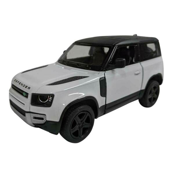 5quot; Die cast: Land Rover Defender 90 White 1 36 Scale