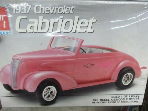 AMT 6744 1937 CHEVY CABRIOLET CONVERTIBLE 3n1 1 25 Model Car Mountain KIT FS $24.88