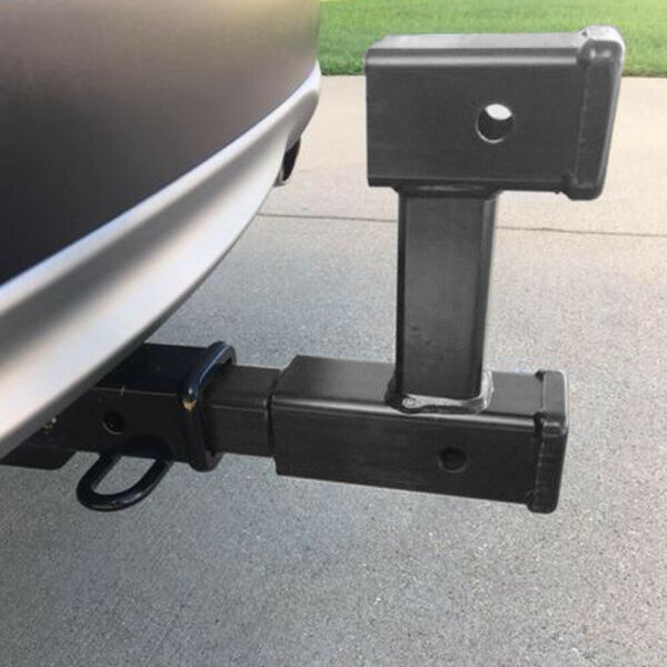 NEW Truck Dual 2quot; Trailer Hitch Receiver Rise Drop Adapter Extender Tow 4000LB $38.44