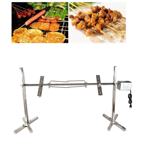 53quot; Stainless Steel Grill BBQ Rotisserie Roaster Camping Restaurant Bar Cooking