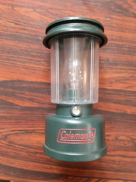 Vintage Coleman Mini Lantern Plug in Night Light. Sensor broken. Light stays on. $3.99