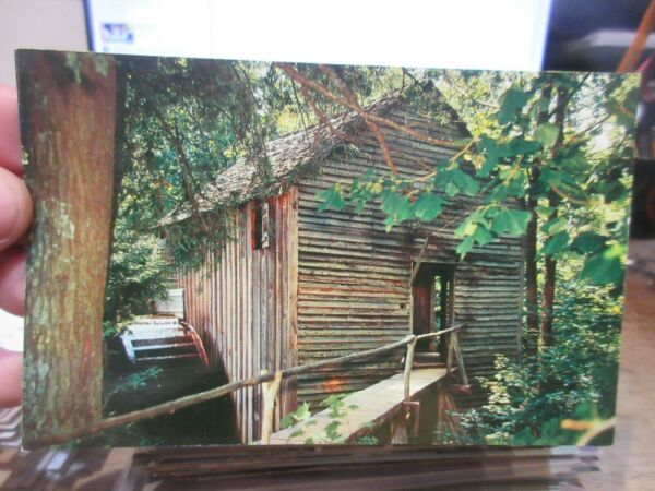 Vintage Old Postcard TENNESSEE Cades Cove John Cable Mill Grist National Park