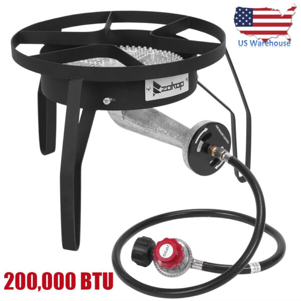 ZOKOP Portable Propane Gas Burner Stove Outdoor Camping Tailgates Hunting Cooker