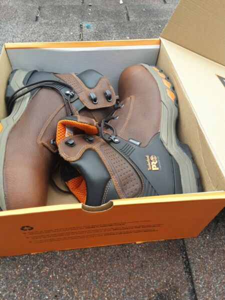Timberland PRO Men HyperCharge 6quot; Waterproof Composite A1Q54 SIZE 12 WORK BOOTS $128.00