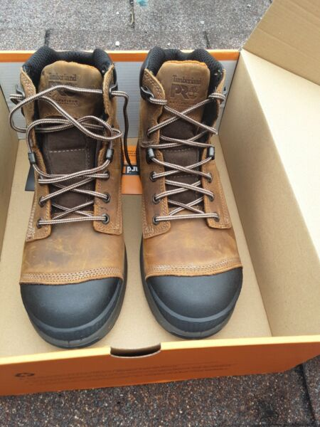 Timberland Helix PRO HD Men#x27;s 9 Waterproof Composite Toe Work Boot A1HQL 6 Inch $125.00