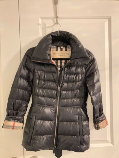 100% Authentic Burberry Brit puffer Down jacket women Size S 2 $349.00