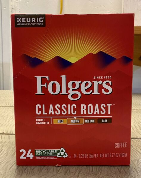 Folgers Classic Roast Keurig K Cups 24 Count FREE SHIPPING