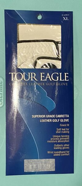 New Cadet XL Tour Eagle Superior Grade Cabretta Leather Golf Glove