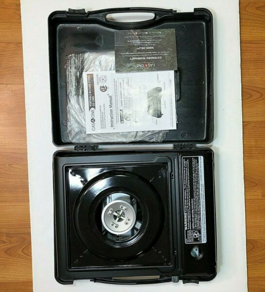 Gas One GS 1000 Portable Butane Gas Stove Auto Ignition w Carrying Case Pristine
