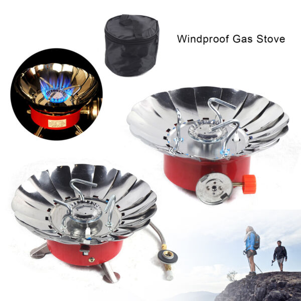Backpacking Camping Hiking Mini Gas Stove Outdoor Portable Picnic Butane Burner