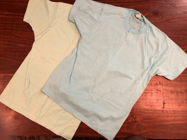 Vintage Screen Stars Tshirt Plain Solid Blank Size M Made In USA lot of 2