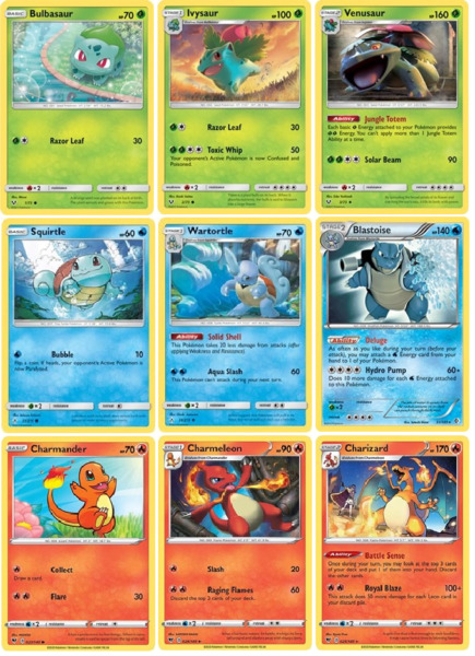 Pokémon Choose Your Starter Complete Evolutions. All Regions Available NM