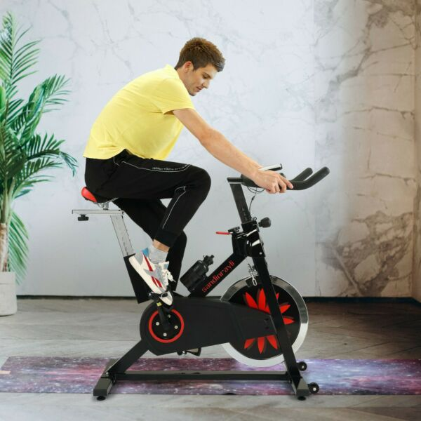 Indoor Exercise Bike Stationary Bicycle Home Cardio Fitness Cycling w Flywheel $210.99