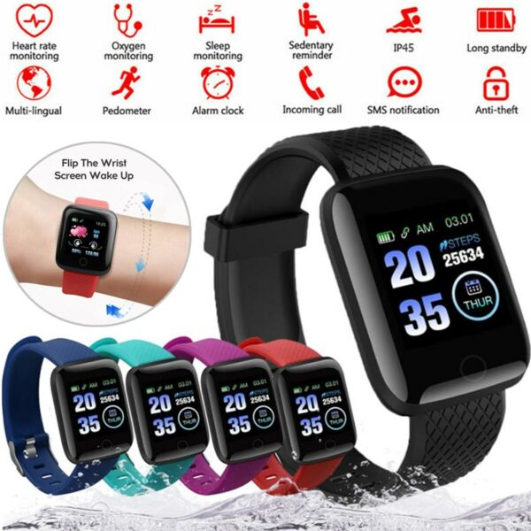 2021 Touch Smart Watch Women Men Heart Rate For iPhone Android IOS Waterproof US $12.21