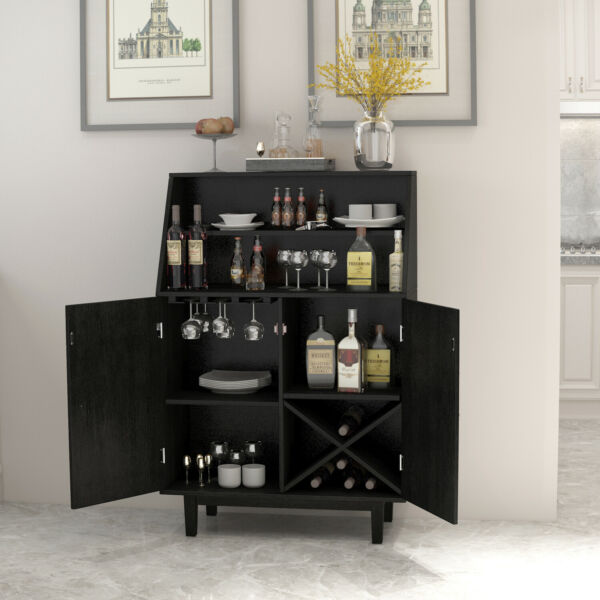 Bar Cabinet Wine Storage Liquor Display Buffet Dining Sideboard Home Kitchen